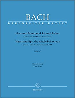 バッハ, J. S.: カンタータ 第147番「心と口と行いと命もて」 BWV 147(独語・英語)/原典版/ベーレンライター社/合唱ヴォーカル・スコア