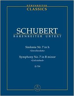 シューベルト: 交響曲 第7番 (旧第8番) ロ短調 D. 759 「未完成」/ベーレンライター社/新シューベルト全集版/中型スコア