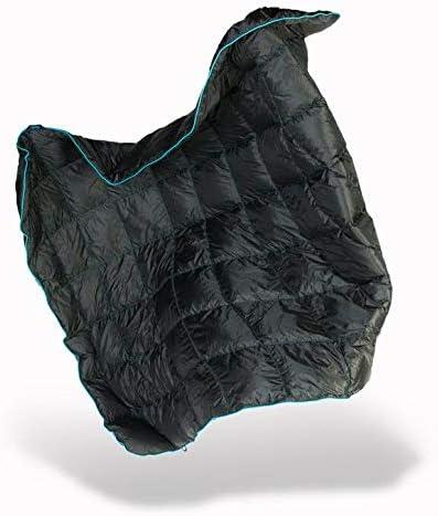 NEW Rumpl Original Puffy Blanket Throw Black//Cyan