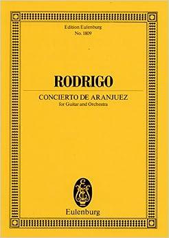 ロドリーゴ: アランフェス協奏曲/オイレンブルグ社/小型スコア