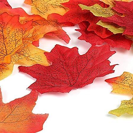 Paper Flower Autumn color. 50 pcs maple leaves size 4x4 cm.