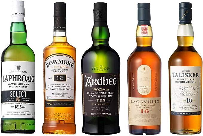 Amazon.co.jp: スモーキーな スコッチウイスキー 各30ml 5種 おすすめ 飲み比べセット 詰め替え 量り売りです。 [並行輸入品]: 食品・飲料・お酒