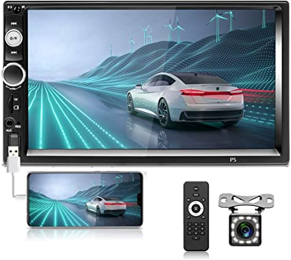 """7/"""" Double Din HD Car MP5 Player Bluetooth Stereo Radio USB//AUX for IOS//Android"""