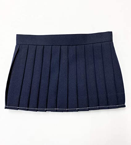Solid Color Women Skirts in Navy