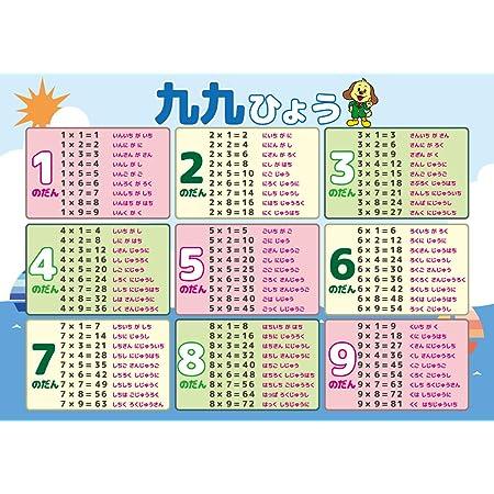 Amazon 学習ポスター 九九 すうじ 図形 計算 おもちゃ