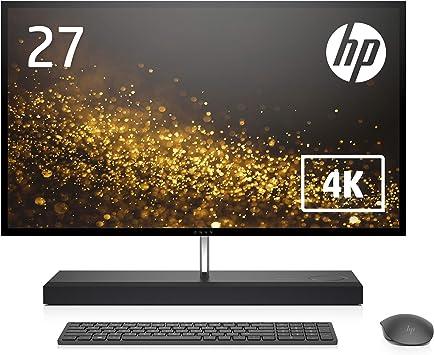 HP 液晶一体型 オールインワン デスクトップパソコン HP ENVY All-in-One 27 27インチ 4K タッチ対応 ディスプレイ Windows10 Core i7 16GB 256GB SSD 2TBハードドライブ NVIDIA® GeForce® GTX 1050 グラフィックス WPS Office (型番:6DW74AA-AAAF)