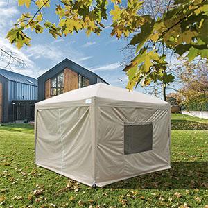 ワンタッチ タープテント 3m サイドシートセット 3段階調節 UVカット 耐水 スチール キャンプ アウトドア 耐水 テント キャンプ用品 ワンタッチテント タープ サイドシート付 収納ケース