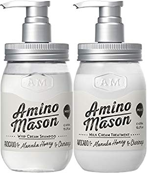 Amazon | 【ペアセット】アミノメイソン モイストシャンプー&トリートメント 各450ml | アミノメイソン | シャンプー・コンディショナーセット  通販